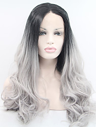 Synthetic Lace Front Wig 2016 The Latest Christmas Before The Lace Gradient Long Hair High Temperature Wig