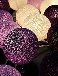 noël fée chaîne éclairage bande mariage de boule de luminarias110 / 220v 20pcs de coton lightshome décoration fiestas