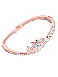Women's Bangles Gold Plated Simulated Diamond Alloy Fashion Pearl Pink Jewelry 1pc