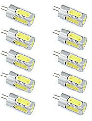 3W Aluminium LED Bulb G4 Spotlight 5 SMD COB Warm / Cool White DC 12V (10 Pieces)