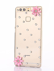 For Huawei P9 Plus Lite P8 Lite Rhinestone Case Back Cover Case Flower Hard PC  Honor 8 7 6 6Plus 5C 5X 4X 4C 4A Mate8 7