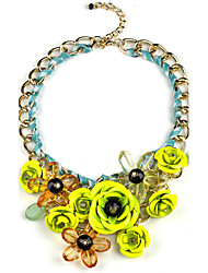 Necklace / Pendants Jewelry Party Flower Style / Pendant Crystal Women 1pc Gift Yellow Gold