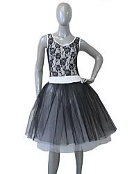 Balé Vestidos Mulheres / Crianças Actuação Algodão / Renda / Tule / Licra Renda / Bloco de Cor / Recortes 1 Peça Sem Mangas Tutus