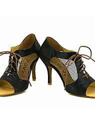 Obyčejné-Dámské-Taneční boty-Latina / Salsa-Třpytky-Na zakázku-Černá / Modrá / Červená / Stříbrná / Zlatá