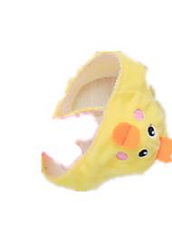 Cães Fantasias Bandanas e Chapéus Amarelo Roupas para Cães Verão Primavera/Outono Animal Fofo Fantasias
