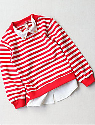Boy Casual/Daily Striped Tee,Cotton Fall Long Sleeve Regular