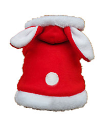 Dog Clothes/Jumpsuit Red Dog Clothes Winter / Spring/Fall Solid Cute / Casual/Daily / Keep Warm