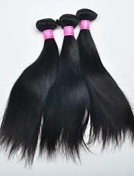 3 Peças Retas Tramas de cabelo humano Cabelo Malaio 0.3kg 8-30 inch Extensões de cabelo humano