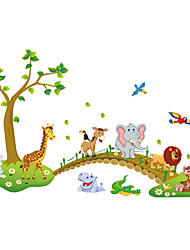 Animals Wall Stickers Plane Wall Stickers Decorative Wall Stickers / Height Stickers,PVC Material Removable / Re-PositionableHome