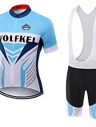 WOLFKEI Summer Cycling Jersey Short Sleeves BIB Shorts Ropa Ciclismo Cycling Clothing Suits #18