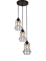 3 Heads Retro Birdcage Pendant Lights Metal Dining Room Kitchen Bar Cafe Hallway Balcony DIY decoration lighting