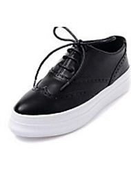 Women's Sneakers Comfort Leatherette Casual Black White