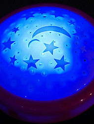 Colorful Lights The Stars The Moon Light The Projection On Lamp Baby Sleep Night Lamp Random Color