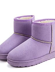 Women's Boots Winter Comfort Synthetic Fur Casual Flat Heel Black Brown Pink Purple Gray Beige Coffee