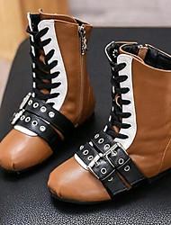 Girl's Boots Comfort Microfibre Casual Black / Brown / Peach