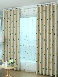 One Panel Curtain Modern , Geometic Kids Room Poly / Cotton Blend Material Blackout Curtains Drapes Home Decoration For Window