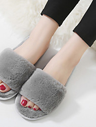 Women's Slippers & Flip-Flops Fall Slingback Polyester Casual Flat Heel Others Black / Pink / Gray Others