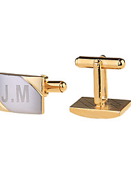 Personalization Cufflinks Record Name Initials Engraved Cuff Link Wedding Shirt Cufflink For Mens With Gift Box