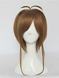 High Quality  Brown Card Captor Sakura Cospaly Wigs Straight  Synthetic Hair Costume Party Wig