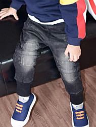 Boy Sports Solid Pants-Cotton Winter