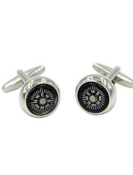 Cufflinks 2pcs,Color Block Silver Fashionable Cufflink Men's Jewelry