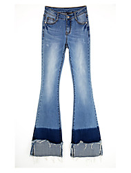 SSY National Wind women stitching horns jeans Slim Weila pants stretch pants XL