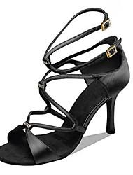 Maßfertigung-Maßgefertigter Absatz-Satin-Lateintanz Jazztanz Salsa Swing Schuhe-Damen