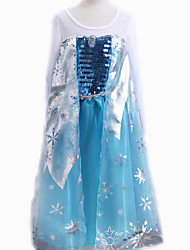 Cosplay Costumes / Party Costume / Masquerade Princess / Cinderella / Fairytale / Cosplay Movie Cosplay Blue Solid DressHalloween /