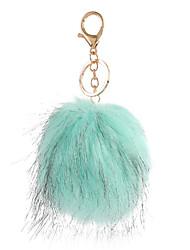 Key Chain Sphere Key Chain Green Metal / Plush