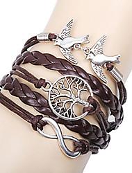 Bracelet Charmes pour Bracelets Bracelets en cuir Bracelets Cuir Infini Arbre de la vie Amitié Ajustable Décontracté Regalos de Navidad