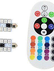 2PCS 36mm Double pointed SMD5050 12v RGB Reading Atmosphere Other