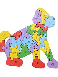 Puzzles Jouet Educatif Puzzle Building Blocks DIY Toys Poulet Serpent Chiens 1 Bois Arc-en-ciel Loisirs
