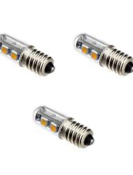 1W E14 Ampoules Maïs LED T 7 SMD 5050 80 lm Blanc Chaud V 3 pièces