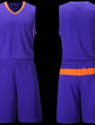 Толстовка Верхняя часть(Белый Лиловый) -Муж.-Баскетбол Бег-Короткие рукава
