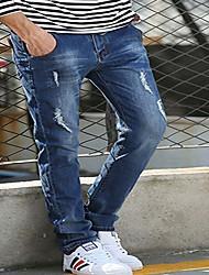 Hommes Slim Jeans Pantalon,simple Décontracté / Quotidien Soirée Imprimé Paillettes Taille Normale fermeture Éclair Coton Micro-élastique