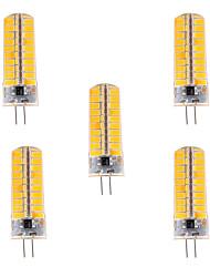 7W G4 LED Mais-Birnen T 80 SMD 5730 500-700 lm Warmes Weiß / Kühles Weiß Dimmbar / Dekorativ V 5 Stück