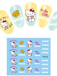 4PCS Cartoon Watermark Nail Art Stickers YMS37-40