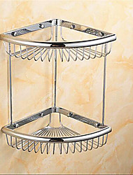 Contemporary Chrome Finish  Brass Material  Wall Mounted  Shower Baskets