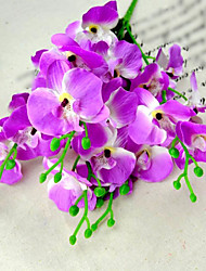 Modern Silk Orchids Flowers 2 Bundles/Lot for Decoration