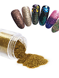 1Box Nail Glitter Powder Acrylic Powder Sheets Nail Dust Tips 3D Nail Art Decoration 10ML