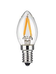 2W E12 LED žárovky s vláknem 2 COB 200 lm Teplá bílá AC 110-130 V 1 ks