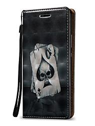 Pour Portefeuille / Porte Carte Coque Coque Intégrale Coque Crâne Dur Cuir PU pour Huawei Huawei P9 Lite
