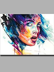 Ручная роспись Абстракция Абстрактные портреты Картины маслом,Modern 1 панель Холст Hang-роспись маслом For Украшение дома