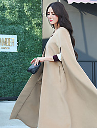 Sign French-sided wool coat female woolen sub loose coat and long sections Korean version of cloak cape