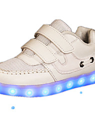 Girl's Athletic Shoes Spring Fall Comfort PU Outdoor Flat Heel Pink White