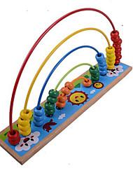 Обучающая игрушка Игрушечные счеты Хобби и досуг Круглый Дерево Радужный Для мальчиков Для девочек