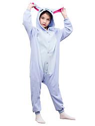 Kids Kigurumi Pajamas Monster Leotard/Onesie Festival/Holiday Animal Sleepwear Halloween Blue Solid Polar Fleece For Kid Halloween Christmas