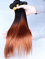 Cara Hair Products Virgin Brazilian Ombre Hair Straight Two Tone Color 1B/30 Ombre Hair Extensions 3Pcs/Lot 6A