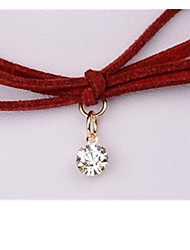 Women's Pendant Necklaces Crystal Circle Bowknot Geometric Gem Geometric Jewelry For Wedding Party Daily Casual 1pc