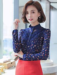signer 2016 automne nouvelles femmes korean chemise dentelle féminine de support mince, plus velours épais